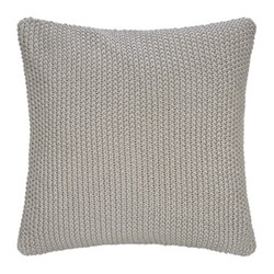 Cable Knit Metallic cushion, grey/silver