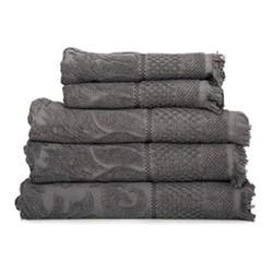 Luxury 5 piece towel set, grey