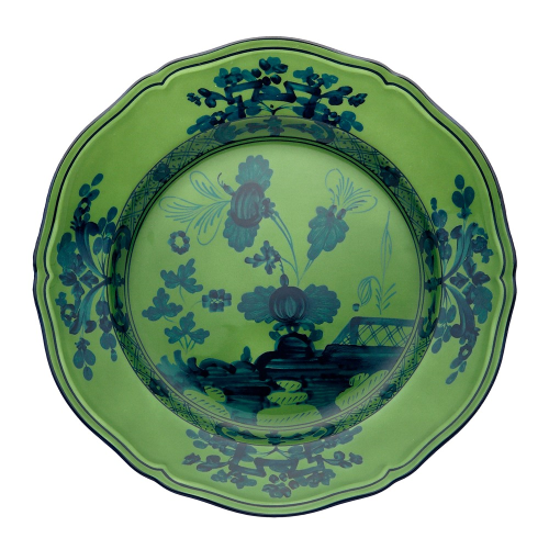 Oriente Italiano Plate, 26.5cm, malachite