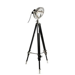 Chicago Tripod floor lamp, L50 x W50 x H137-169cm, silver/black