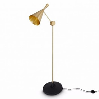 Beat Floor lamp, H168 x W59 x L59m, brass