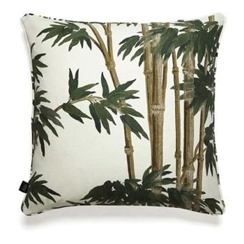 Bambusa Linen cushion, L60 x W60cm, antique white
