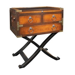 Bombay Box Occasional table, H65.5 x W56.5 x L40cm, honey distressed cherry/pine