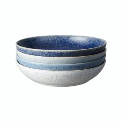 Studio Blue Set of 4 pasta bowls, 22 x 5cm, Blue Tones
