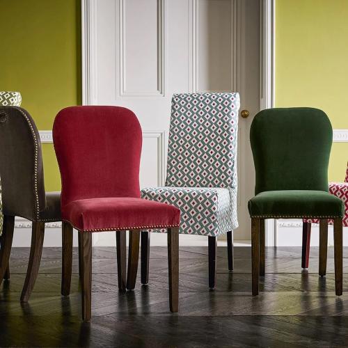 Stafford Chair, H92 x L59 x W45cm, Blood Orange Velvet