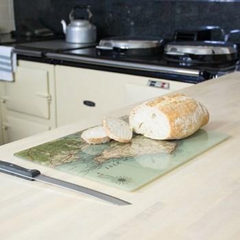 Rectangular worktop saver with personalised map 40 x 30cm