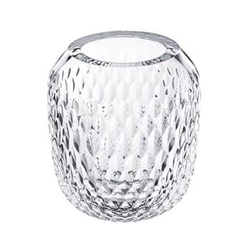 Folia Small vase, clear crystal