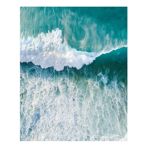 Wave In Sea Against Sky Mounted print, H63.5 x W51cm, perspex