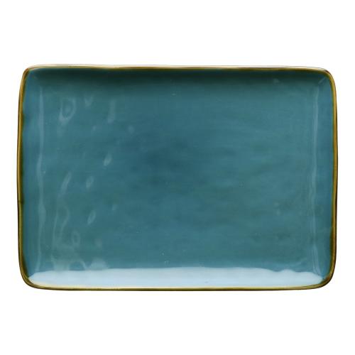Concerto Pair of rectangular trays, L27 x W19cm, Blue