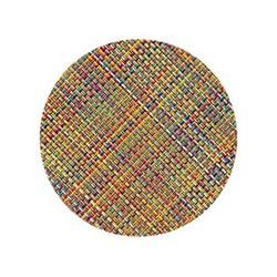 Mini Basketweave Set of 4 round coasters, 10cm, confetti