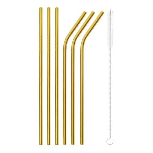 Mix & Play Set of 6 straws, Gold