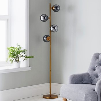 Four sphere floor lamp L42 x W42 x D190cm