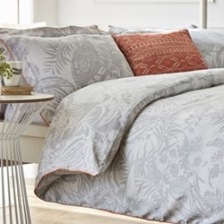 Toco King size duvet cover, L220 x W230cm, silver