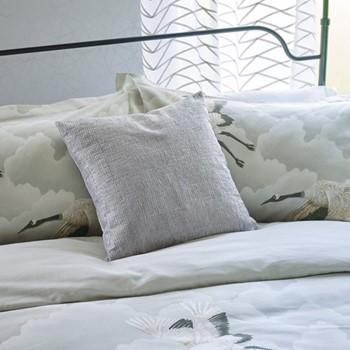 Cranes In Flight Cushion, L45 x W45 x H10cm, silver