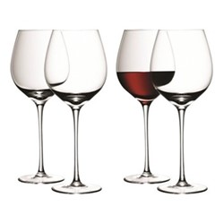 Wine Set of 4 red wine glasses, 0.75 litre, clear