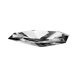 Precious Platter, H4.2 x W24.5cm, glass