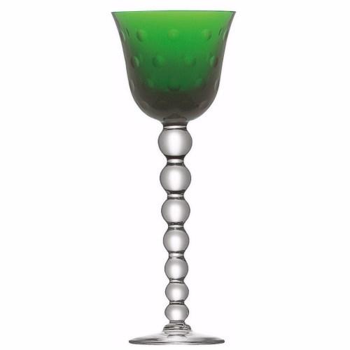 Bubbles Hock glass, green