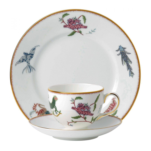 Mythical Creatures Teacup, saucer and plate set