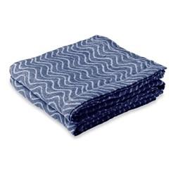 Ondas Linen beach towel, navy blue