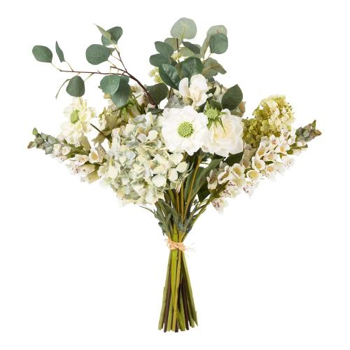 Faux hydrangea, scabiosa mixed bunch, H72cm, Multi