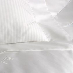 Torcello Super king size fitted sheet, 180 x 200cm, white