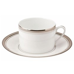 Excellence Teacup and saucer, 16cl, grey