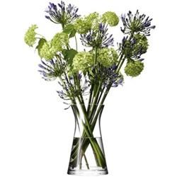 Flower Mixed bouquet vase, 29cm, clear