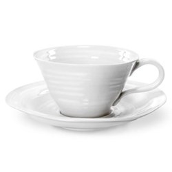 Ceramics Set of 4 teacup and saucers, 30cl, white