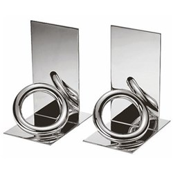 Vertigo Pair of bookends, 14cm, Christofle silver