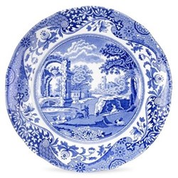 Blue Italian Set of 4 plates, 15cm