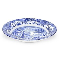 Blue Italian Set of 4 soup plates, 23cm