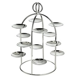 Latitude Petit fours stand 12 small dishes, 25.5cm, silver plate