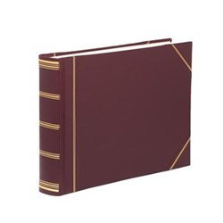 Classic Range Photograph album landscape original with 30 card pages, 28 x 38cm, burgundy with gold corners