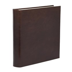 Mocha Range Photograph album square with 70 leaves, 36cm, full bound leather