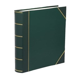Classic Range Photograph album square with 70 leaves, 36cm, green with gold corners