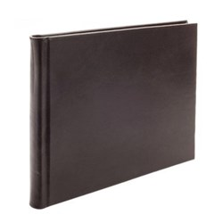 Mocha Range Visitors book with plain pages, 22 x 28.5cm, full bound leather