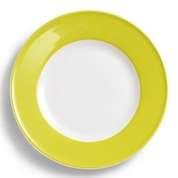 Solid Colour Dessert plate with rim, 19cm, lime