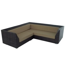 Corner sofa with cushion