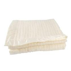 Atkincel Cellular Blanket single, 180 x 230cm, 100% white wool