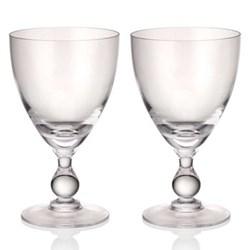 Jewel Set of 6 wine goblets, diamond
