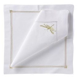 Dragonfly Set of 4 napkins, 54 x 54cm, gold