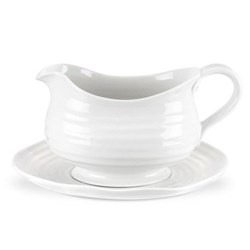 Ceramics Sauce boat and stand, 55cl, white