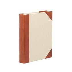 Tuscan Range Photograph album portrait with 50 leaves, 31 x 24cm, half bound leather
