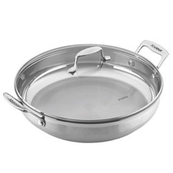 Impact Chef pan with glass lid, 32cm, stainless steel