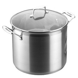 Impact Stock pot with glass lid, 26cm, stainless steel