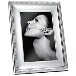 "Perles Photograph frame, 10 x 15cm (4 x 6""), Christofle silver"