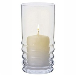 Wibble Hurricane lamp, H20cm, clear