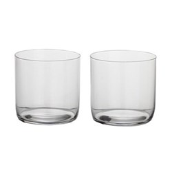 H2O Pair of water tumblers, H8 x D8cm - 33cl