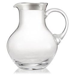 Babsy Jug, H19cm - 1.4 litre, crystal and sterling silver