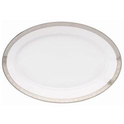 Royal Trianon Platinum Oval platter, 40cm